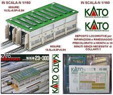 KATO 23-300 DEPOSITO LOCOMOTIVE RIMESSAGGIO e RIPARAZIONI PRECOLORATO SCALA-N