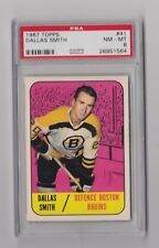 1967 TOPPS DALLAS SMITH BOSTON BRUINS CARD #41 PSA 8 NM-MT WELL CENTERED