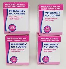 PRODIGY NO CODING BLOOD GLUCOSE TEST STRIPS (4 BOXES OF 50 STRIPS) #200