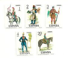 (1977) UNIFORMES MILITARES (EDI. 2381 A 2385)