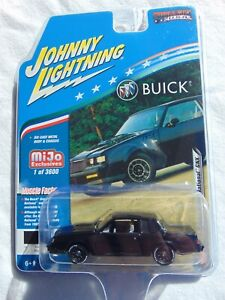 JOHNNY LIGHTNING 1987 BUICK GRAND NATIONAL GNX 1/64 DIECAST BLACK