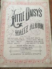 Antique Sheet Music Little Daisy's Waltz Album Fairyland London OLD RARE