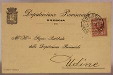 STORIA POSTALE REGNO 2 CENTESIMI 1915 DEPUTAZIONE PROVINCIALE DI BRESCIA #SP626