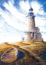 Lighthouse Cape Cod Nantucket Martha's Vineyard Dory Matted Signed Art Souders