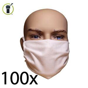 100 Stück - Alltagsmaske, Mund- und Nasen-Maske, Behelfsmaske - abkochbar