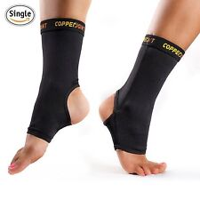 CopperJoint Compression Ankle Sleeve 1 Plantar Fasciitis Sock - (SMALL)