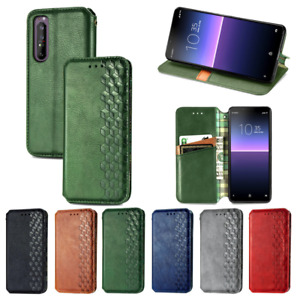 For Sony Xperia 5 II 10 II 1 II Leather Wallet Card Magnetic Stand Case Cover