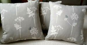 "Vanessa Arbuthnott complete feather Cushion Cow Parsley pigeon charcoal 18"" New"
