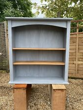 Recycled Pine Bookcase Finished In Anthracite Grey & Waxed Delivery Available