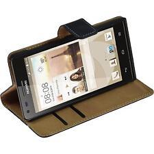Copertura di cuoio artificiale Ascend P7 Mini Wallet nero