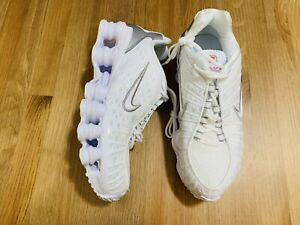 Nike Shox TL women's athletic shoes white metallic silver AR3566-100 NWOB sz 9.5