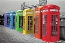 TRAVEL POSTER London Phoneboxes Colour