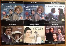 DVD x6 BRITISH CLASSICS CRANFORD,EMMA,GREAT EXPECTATIONS,TALE OF TWO CITIES,A RO