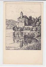 AK Schloss Schönbühel, Wachau, Radierung Ulf Seidl, 1920