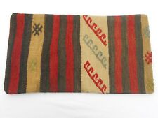 "Unique  Kilim Pillow Cover 11x19"" Case from Kilim Rug Hidden Zipper Amazing Work"