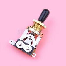 3 WAY GOLD TOGGLE SWITCH for Les Paul Electric Guitar Black KNOB Quality NEW