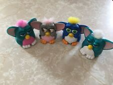 McDonald's Happy Meal Toys Furbys 1998 Green Blue Grey Pink Lot Of 4
