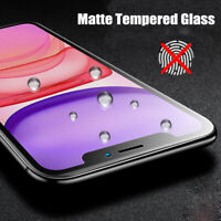 For iPhone 11 Pro Max 5D Full Coverage Matte Tempered Glass Screen Protector