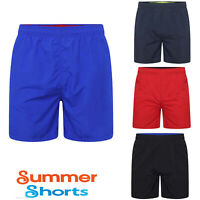 Mens Swim Shorts Plain Mesh Lining Quick Dry Boys Swimming Summer Beach Pool New