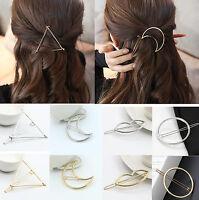 Sale Women Girl Hair Accessories Jewelry Triangle Moon Lip Hairpin Hair Clip