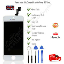 Apple iPhone 5S White LCD OEM Screen and Digitizer Assembly With Frame + Tools