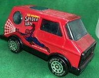 """Buddy L Pressed Steel 5"""" Red The Amazing Spider Man Van Vintage"""