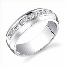 Beautiful Masculine 15gram 0.85ct Men's Diamond PLATINUM Designer Band