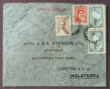1935 Argentina Commercial Air Mail Cover To London, GB, Buenos Aires Cancel.