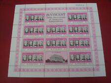 ST. VINCENT - 1975  USA BI-CENTENARY MINISHEET UNMOUNTED MINT MINIATURE SHEET
