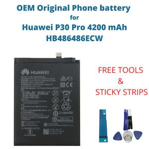 OEM Original Battery For Huawei P30 Pro 4200 mAh Capacity HB486486ECW Phone New