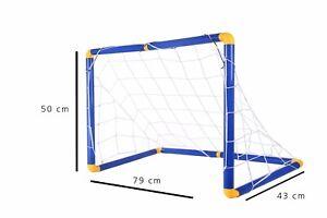 Porta da calcio e calcetto con rete 79x43x50cm smontabile per giardino spiaggia