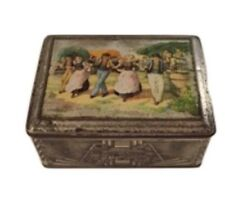 JOB Cigarette Paper Antique Metal Box Papier A Cigarettes JOB Metal Box Rare