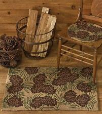 COUNTRY HAND HOOKED PINECONE WALK IN THE WOODS  AREA RUG BY PARK DESIGNS