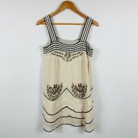 Tsumori Chisato Womens Dress Size 2 (Au 8) 100% Silk Gorgeous Beaded Design