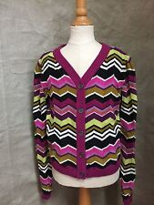 Cardigan Passione Sweater L 10 Girls ZIG ZAG Flame Knit MISSONI FOR TARGET
