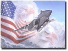 With Wing Like Eagles  by Jody Sjogren - F-15 Eagle - Aviation Art Print