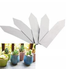 100x Plastik Garten Pflanzenschilder Stecketiketten Schlagwörter Schild 10X2 cm