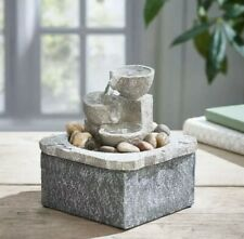 Indoor Relaxing Cascading Water Pebble Fountain Feature By Avon New