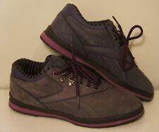 1980s Vintage Reebok purple blue Tennis Walking suede Shoes Womens Sz 8
