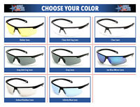 Pyramex Ever-Lite Safety Glasses Sunglasses Choose Lens Color ANSI Z87