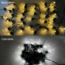 Christmas 10m Led Globe Outdoor String Light Fairy Clear Bulb Party Decoration