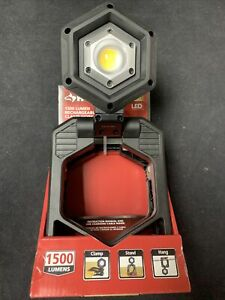 Husky CL1500HD 1500 Lumen Rechargeable Clamp LED Work Light - NO RESERVE