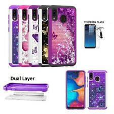 For Samsung Galaxy A20 / A30 Studded Rhinestone Diamond Bling Cover Case
