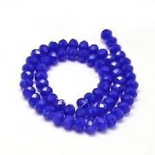 45 Jade Perlen 8mm Cobalt Blau Rondelle Facettiert Halbedelstein MODE G303#3