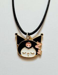 Cute Kuromi Sleeping Zzs Sanrio Cat Girls Ladies Kids Pendant Necklace Gift UK