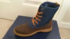 Mens Boys Leather Ralph Lauren Boots Shoes Leather 5 NEW