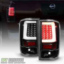 Black [LED Light Tube Style] For 2004-2015 Titan A60 LED Tail Lights Brake Lamps