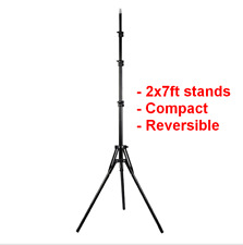 "2pc 7""/2m Compact Reversible Height Adjustable Light Stand Tripod - Photo/Video"