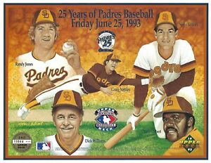 Randy Jones Colbert 1993 Upper Deck Padres Heroes of Baseball 8.5x11 Photo Card