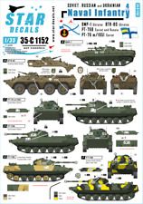 Star Decals 1/35  Naval Infantry #4: Soviet and Russian PT-76 decals 35C1152